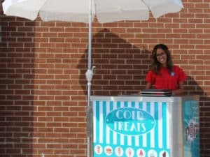 Teal Ice Cream Cart